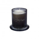 vela perfumada cl jar im loyd 260g, gris oscuro