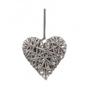 deco heart wicker d25, 2- times assorted , multico