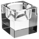 square glass candle Display transparent