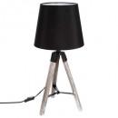 mayorista Casa y decoración: Lámpara treo madera runp negro h58, negro