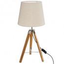 wood lamp trep runo bamb h58, beige