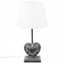 h49 heart wood lamp, 2- times assorted , ass color