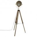 lampdr metaal / hout ebor bron h152, brons