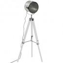 lampdr metal / wood ebor white h152, white