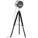 lámpara metal / madera ebor negro h152, negro