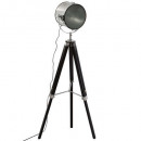 lampdr metal / wood ebor black h152, black