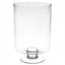 vase s / foot cylinder h30, transparent