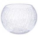 vase boule craquele d20xh15, transparent