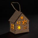 decoración de navidad cabaña brillante 1 led bl ch