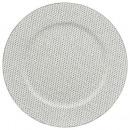 wholesale Crockery: plate round strass presentation plate blan