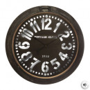 clock metal porthole d73.5, brown