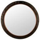 mirror metal porthole d74, brown