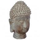head buddha resin h25, brown
