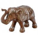 elephant resin h15, brown