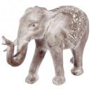 Elefant gebleichtes Harz h46, grau