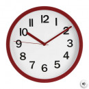 red plast clock d22, red