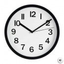 black plast clock d22, black