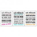 sticker txt 50x70 regles, 3-fois assorti, multicol