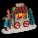 wholesale Decoration: christmas village scenery pm lm stack 4asst, 4-fol