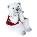 seated bear decoration / clothes h30cm
