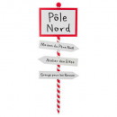wooden sign north pole 120cm
