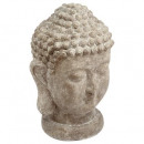 boeddha cement hoofd h40, grijs