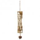 décoration de noël bois lettre noel vertical