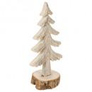 dekoracja drewna sztuczna jodła na logu