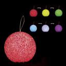 Decoración navideña luz bola eva 1 led cc