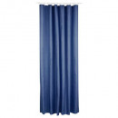 donkerblauw polyester douchegordijn