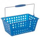 cesta con asa azul marino, beige
