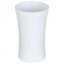 taza plástica de rayas blancas