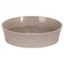 plato de jabón de plástico raya topo