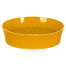 porte savon plastique stripe jaune m