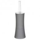 Bürste WC Kunststoff Streifen grau