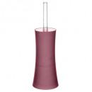 Escobilla de baño de plástico raya terracota, rosa
