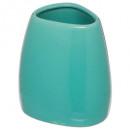 vaso de seda turquesa