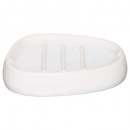 white silk soap dish