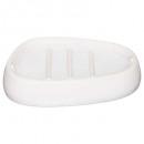 witte zijden zeepbakje