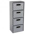 Muebles de 4 cajones gris claro, gris claro