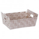 basket 2 handles taupe bevel