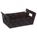basket beveled black x2