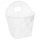 cesta redonda colgar blanco