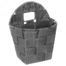 round basket hang gray fon