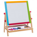 double-sided wooden easel, colorless