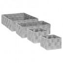 carrello quadrato x4 grigio chiaro
