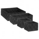 carrello quadrato x4 nero