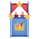 Teatro 140cm + 4 marionetas, 4- veces surtido , mu