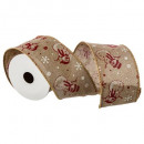 Cinta textil impresa 63mm x 2m70, 4 veces surtido