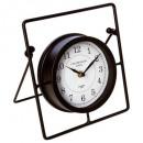 metalowy zegar wahadłowy, czarny